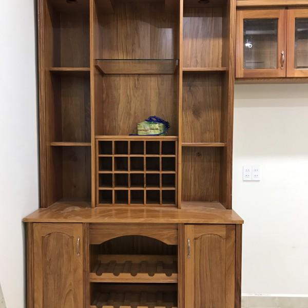 tủ rượu gỗ gõ